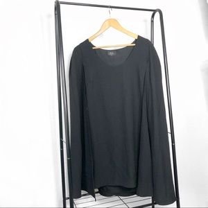 NWT Nasty Gal Black Cape Mini Dress